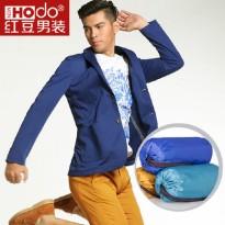 红豆男装新款专柜男士休闲单西装韩版修身单西服轻薄商务外套