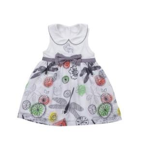 卡拉贝熊 女童婴儿童装 纯棉夏装新款花美蜓婴童背心连衣裙 4132