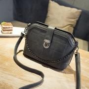 女包新款潮菱格贝壳包手提包女英伦复古单肩包斜挎小包包