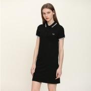 夏季Polo裙女装短袖翻领纯棉修身中长款a字很仙小个子连衣裙t恤裙
