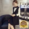 yfz孕妇装韩版新款加绒加厚纯色孕妇连衣裙时尚翻领孕妇裙