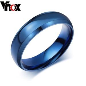 蓝色钛钢戒指男 个性日韩指环 男士尾戒 单身食指男霸气戒指 饰品