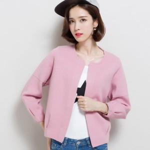 多慕爱2016年秋季新款韩版女装针织衫开衫 时尚宽松百搭毛衣外套