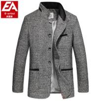 2016春冬新款中山立领修身有加大码羊毛呢子夹克男装潮薄外套J24