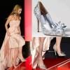 JC高跟鞋细跟尖头鞋女灰姑娘水晶鞋婚鞋春秋季新娘鞋白色水钻单鞋