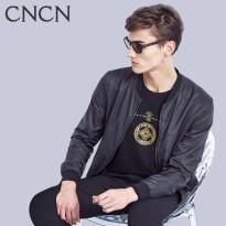 cncn男装 春季立领薄款夹克男 修身短款休闲棒球服 男士外套青年