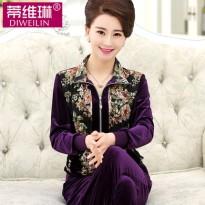 中老年女装秋装40-50装两件套中年女装人妈妈装春秋长袖外套套装