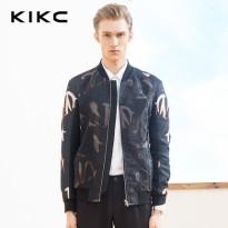 kikc2016春季男装新品 立领几何印花休闲短款夹克 运动棒球服外套