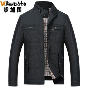 春秋男装 中年男士夹克衫外套 中老年春季薄款商务休闲爸爸装上衣
