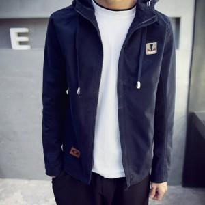 思波狄伦 2016春季新款男士外套 韩版修身连帽夹克青少年男装潮薄
