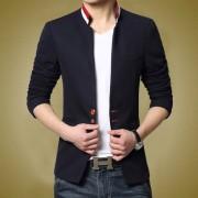 男装春秋韩版修身型外套长袖薄款上衣青年潮男士休闲立领夹克衫男