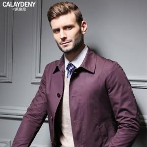 夹克男薄款男士外套商务休闲夹克外套男装春季中年翻领春秋茄克衫