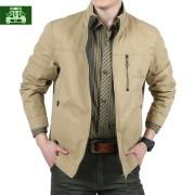 新款AFS/JEEP夹克男装棉质立领双面穿春秋正品战地吉普男士外套