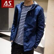 2016春装新款青年男士夹克 韩版修身连帽潮流学生春季男装薄外套