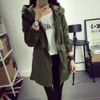 莱温斯羽春秋新款韩版修身学生休闲风衣女中长款大码显瘦女装外套
