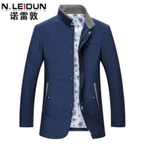 诺雷敦中年男士夹克外套2016春季新款商务休闲男装立领夹克男薄款
