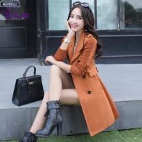 杭依阁风衣女春秋装新款2016春装韩版修身中长款长袖女士外套女装