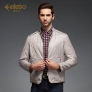 爱登堡男装新款夹克 青年时尚方格休闲夹克jacket 潮男外套春款