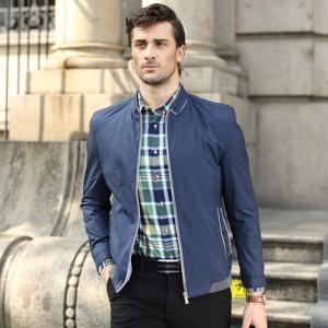 太子龙春季2016新款男士外套夹克立领薄款中年青年商务休闲男装