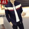 2016春装新款立领男士夹克 韩版修身拼色学生春季外套青少年男装