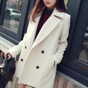 讴若缇2016春秋装新品大码女装显瘦呢子大衣中长款韩版毛呢外套女