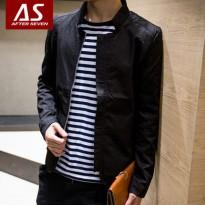 After Seven春装新款休闲薄款男士夹克 韩版修身潮流立领男装外套