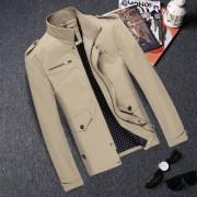 春季新款夹克男韩版修身纯棉休闲jacket外套大码青年夹克男装潮