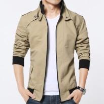 春季新款韩版男士青年立领夹克修身外套潮流休闲简约男装立领上衣