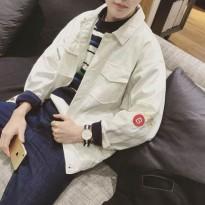 2016春装新款夹克男士韩版青年宽松衣服休闲男装上衣牛仔外套男潮