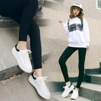 别说春季韩国纯色低帮板鞋女鞋韩版潮小白鞋厚底运动休闲鞋女单鞋