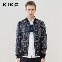 kikc2016春季男装新品 欧美男士印花棒球服外套 休闲男士夹克外套