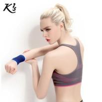 Kis运动文胸 女夏新品高强度防震健身跑步背心式无钢圈聚拢内衣