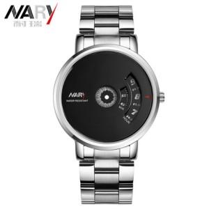耐瑞正品新概念无指针罗盘手表个性时尚男表齿轮旋转动感潮流手表