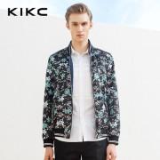 kikc2016春季男装新品 男士青年立领修身休闲短款夹克棒球外套潮