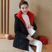 羽绒服女中长款2017冬装新款韩国修身显瘦连帽羽绒服女加厚外套潮