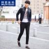 ALT休闲夹克男士青年短款 2016春季韩版修身棒球服外套男装薄款潮